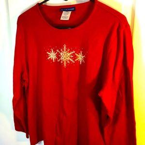 XL Red Karen Scott Christmas Sweater